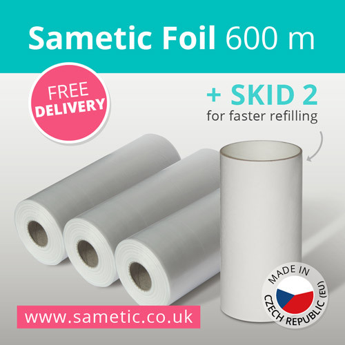 600 meters of Sametic Foil + free SKID-2 + free delivery inside EU
