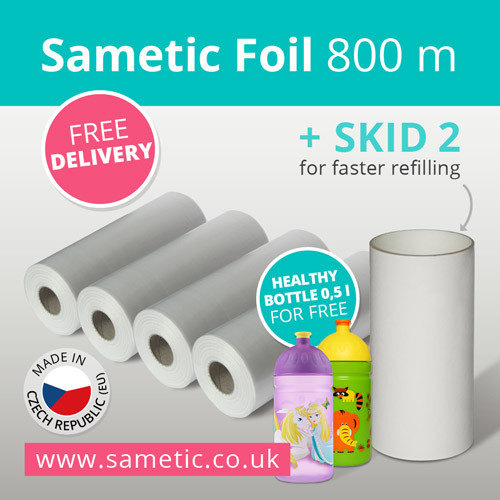 800 meters of Sametic Foil + free SKID-2 + free delivery inside EU + free Healthy Bottle!